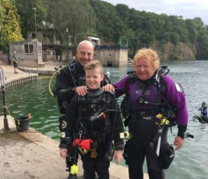 Youth scuba training with Dive Odyssea