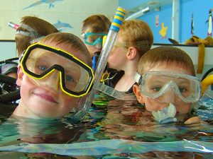 scuba dive training for young people