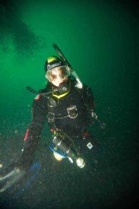 UK diving in Green water